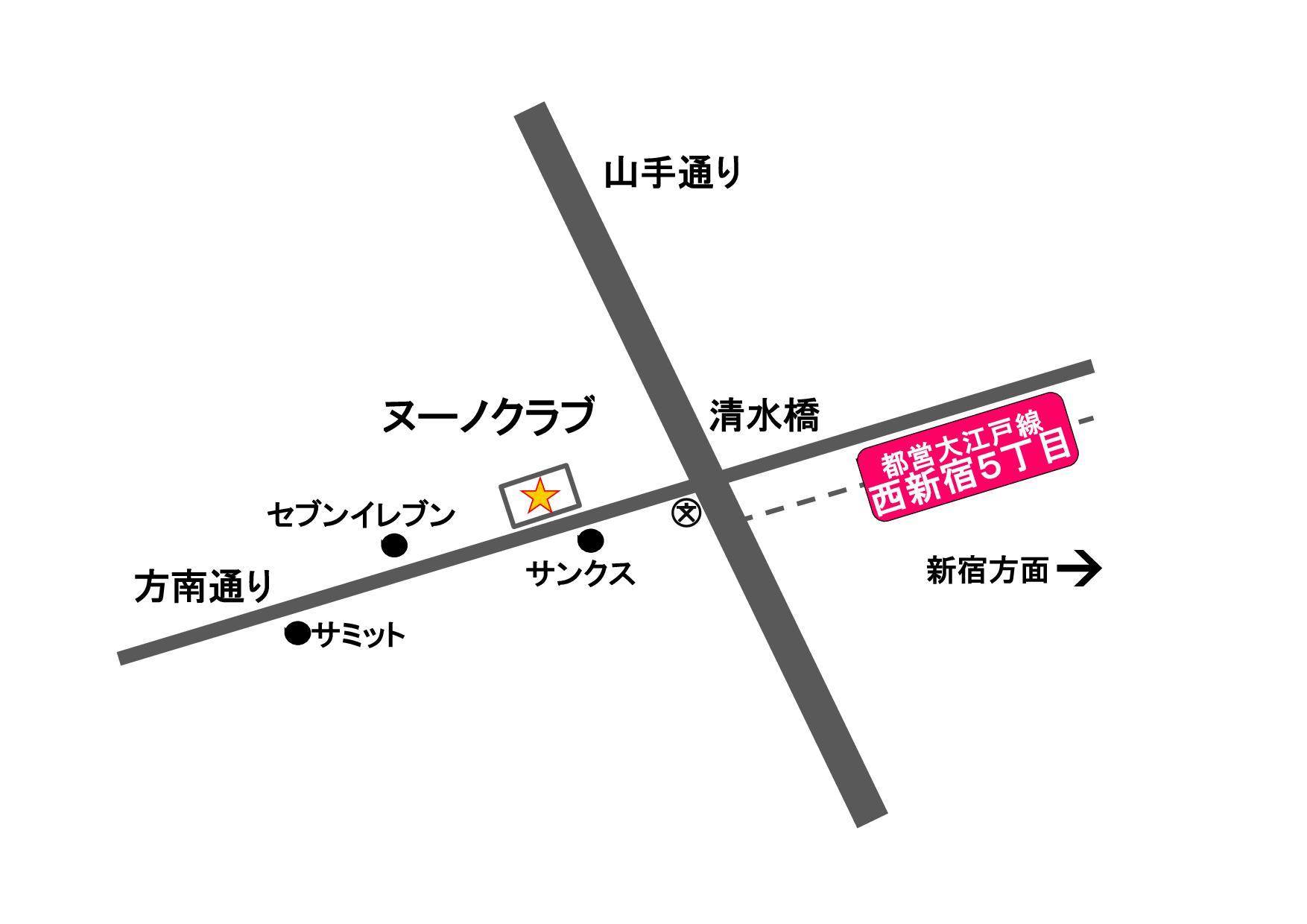 トリミングサロン ヌーノクラブ西新宿店の地図
